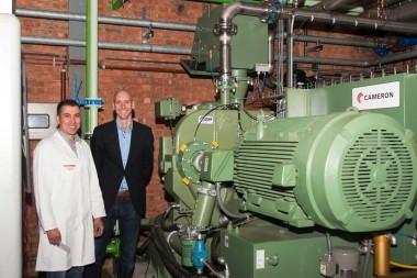 fabriek bespaart energie perslucht