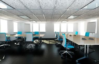 Kantoor witte panelen infraroodverwarming